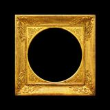 Oud beeld gouden kader Stock Afbeeldingen