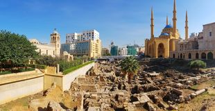 Oud Beiroet stock afbeeldingen