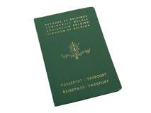 Oud Belgisch paspoort Royalty-vrije Stock Afbeeldingen