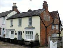 Oud Berkeley House vroeger het Oude café van Berkeley Arms en een slagerij, Chorleywood, Hertfordshire, het UK stock afbeelding