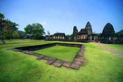 Oud bij het Historische Park van Phimai, Thailand Stock Afbeelding
