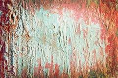 Oud blad met rode en lichtblauwe lagen backgroun Stock Foto's