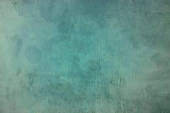 Oud blauw bevlekt canvas het schilderen ontwerpdetail, achtergrond of tex stock foto
