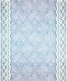 Oud Blauw BloemenKant Royalty-vrije Stock Afbeelding