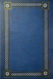 Oud blauw grungeboek stock fotografie