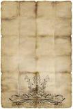 Oud bloemenperkamentdocument Royalty-vrije Stock Fotografie