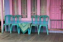Oud blokhuis in Kalimantan Borneo Royalty-vrije Stock Fotografie