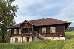 Oud blokhuis, Polen Stock Afbeeldingen