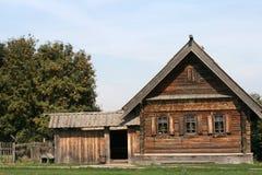 Oud blokhuis in Suzdal Royalty-vrije Stock Foto