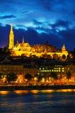 Oud Boedapest met de kerk van Matthias Royalty-vrije Stock Foto