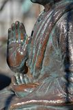 Oud Boeddhistisch standbeeld stock foto's