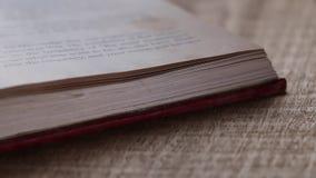 Oud boek stock footage