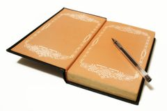 Oud boek of dagboek Royalty-vrije Stock Fotografie