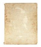 Oud boek in een doekdekking Stock Foto's