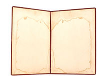 Oud boek met lege geel Royalty-vrije Stock Afbeelding