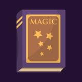 Oud boek met magische de geheimzinnigheid van de sterrentekst fairytale uitstekende het onderwijsliteratuur van de fantasieverbee stock illustratie
