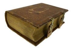 Oud boek met slot Stock Afbeelding