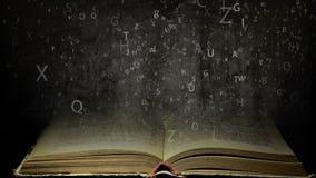 Oud boek met vliegende brieven royalty-vrije illustratie
