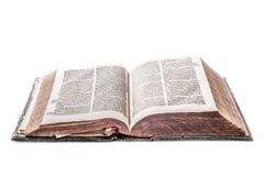 Oud boek op wit Stock Afbeeldingen