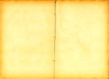 Oud boek open op beide blanco pagina's (aftasten). Royalty-vrije Stock Foto's