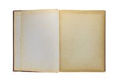 Oud boek open op witte achtergrond Royalty-vrije Stock Afbeelding