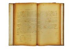 Oud boek twee open gezicht Stock Afbeeldingen