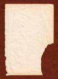 Oud boekdocument met bruine kartonachtergrond Stock Foto's