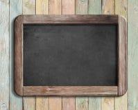 Oud bord of bord op kleurrijke houten 3d illustratie Royalty-vrije Stock Fotografie