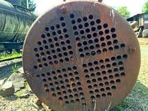 Oud bosbouwmateriaal in Oregon stock foto's
