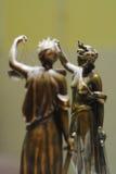 Oud bronsstandbeeld van Rechtvaardigheid Stock Afbeeldingen