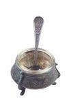 Oud bronst mortier Royalty-vrije Stock Foto