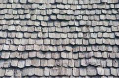 Oud bruin houten dak Royalty-vrije Stock Afbeelding