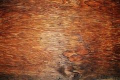 Oud bruin houten patroon met spijkergat Stock Foto's