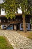 Oud Bulgaars huis Тraditional in Koprivshtica, Bulgarije Royalty-vrije Stock Foto