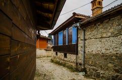Oud Bulgaars huis Тraditional in Koprivshtica, Bulgarije Royalty-vrije Stock Foto's