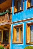 Oud Bulgaars huis in etnografisch dorp Koprivshtitsa Royalty-vrije Stock Afbeelding