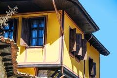 Oud Bulgaars huis in etnografisch dorp Koprivshtitsa Royalty-vrije Stock Fotografie