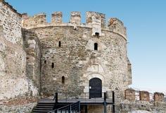 Oud byzantijns vestingwerk bij Thessaloniki stad i Stock Fotografie