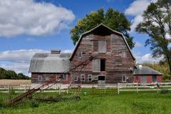 Oud Cass County Barn stock afbeelding