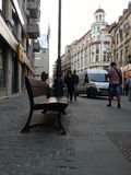 Oud Centrum, straat Stock Foto