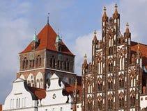 Oud centrum van Greifswald (Duitsland) 02 Stock Foto