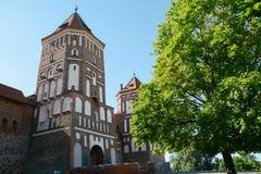 Oud centrum van Witrussische stad Stock Foto's