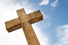 Oud christelijk steenkruis Royalty-vrije Stock Foto's