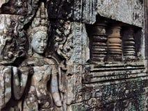 Oud cijfer Angkor Wat Royalty-vrije Stock Afbeeldingen