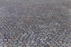 Oud cobbled wegdek in Timisoara stock foto