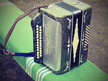 Oud concertina stock afbeelding