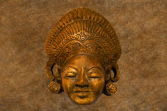 Oud cultuur-historisch masker Royalty-vrije Stock Afbeelding