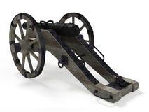 Oud 3D kanon Royalty-vrije Stock Foto