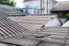Oud Dak stock foto