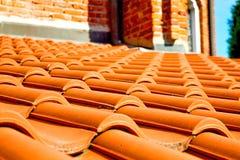 oud dak in Italië de lijn van diagonale architectuur Royalty-vrije Stock Afbeelding